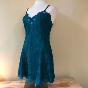 Vintage Victorias Secret Emerald Green Lingerie M
